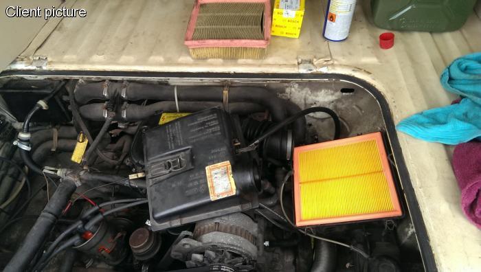 Filtr vzduchu - Typ 1/IV/CT/CZ/WBX motory/Porsche 924 (1972 »)