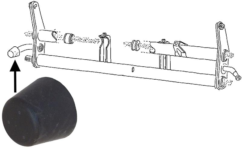 Dorazy ramen/přední - Typ 1/2/14/Porsche 356 (» 1965)