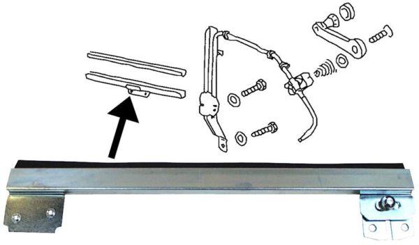 Lišta stahování skla dveří/P - Typ 1 (1964 » 68)