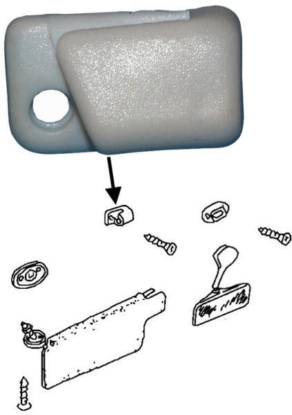 Držák sluneční clony/bílý L - Typ 1/3/14 (1966 »)