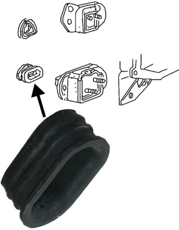 Pouzdro silentbloku převodovky/přední - Typ 1/3/14 (1961 » 65)