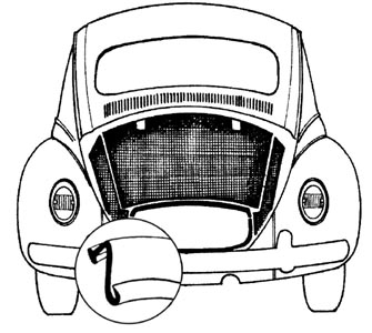 Těsnění kolem motoru/OE - Typ 1/14/181 (1966 » 03)