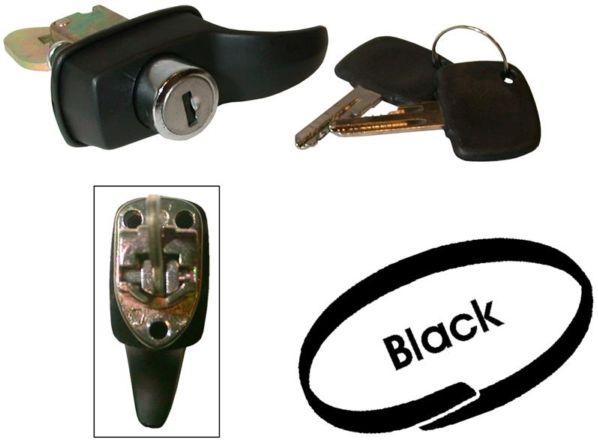 Zámek víka motoru/černý - Typ 1/2 (1966 » 71)