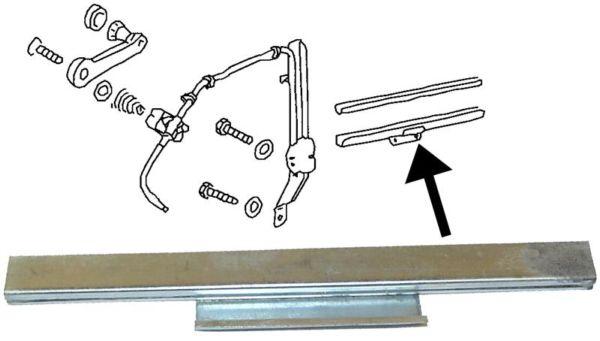 Lišta stahování skla dveří L/P - Typ 1/3 (1952 » 64)