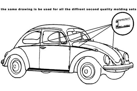 Lišty karosérie Alu/kit - Typ 1 (1962 » 66)