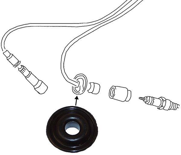 Průchodka/zapalovací kabely - Typ 1/3/IV motory (1939 » 03)