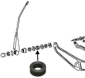Průchodka osičky stěrače L/P - Typ 1/2 (1950 » 69)