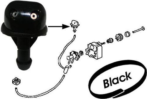 Tryska černá/ostřikovač čelního skla - Typ 1/3/14/181/Golf/Jetta/Scirocco (1958 » 03)