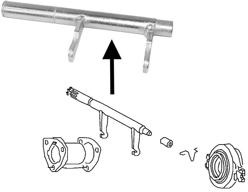 Páka ložiska spojky - Typ 1/3/14/181 (1971 »)