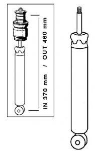 Tlumič nárazu Cofap/přední L/P - Typ 1/14/181 (1965 » 03)