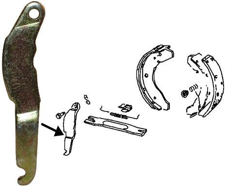 Páka štítu ruční brzdy/P - Typ 1/3/14/181 (1957 » 03)