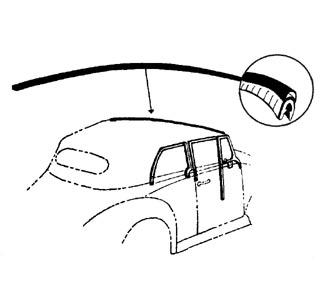 Těsnění/přední rám skla střechy - T.1 1303 Cabrio (1972 » 80)