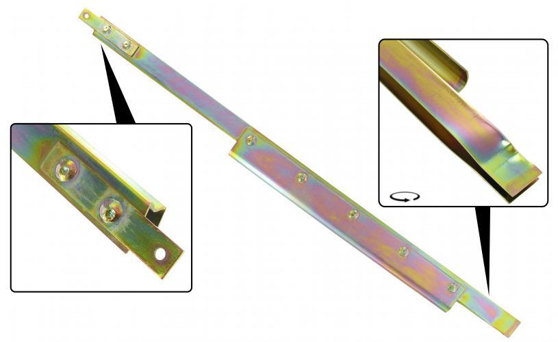 Lišta stahování skla/zadní L - T.1 Cabrio (1964 » 80)