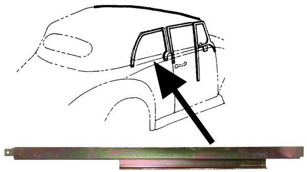 Lišta stahování skla/zadní P - T.1 Cabrio (1964 »)