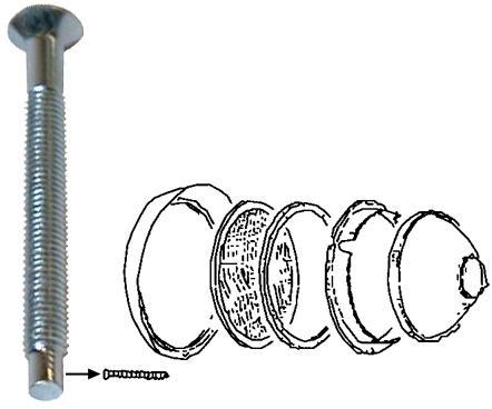 Šroub rámečku/světlomet - Typ 1/2/3/181 (1967 »)