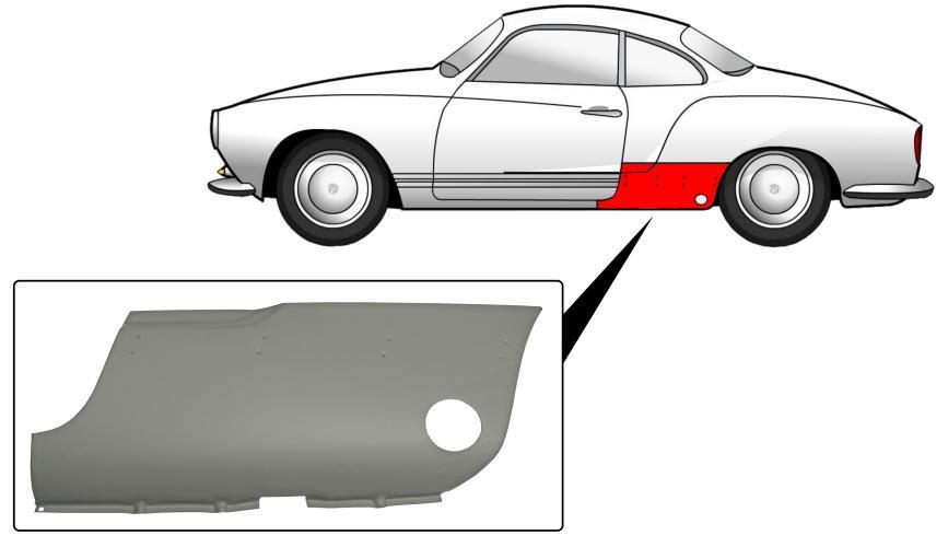 Blatník zadní/přední sekce L - Typ 14 (1960 » 74)