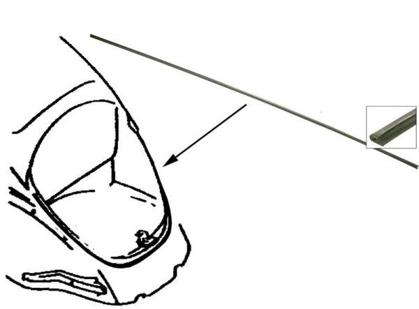 Lišta těsnění/zadní čelo 85cm - Typ 1 (» 2003)