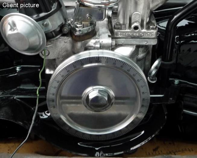Řemenice klikové hřídele plná Alu/černá stupnice - Typ 1 motor (1960 »)