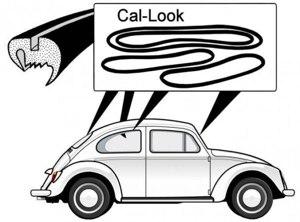 Těsnění skel plné Cal look/kit - Typ 1 (1957 » 64)
