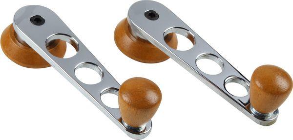 Kličky stahování oken chrom/dřevo - Typ 1/2/3/14 (1967 »)