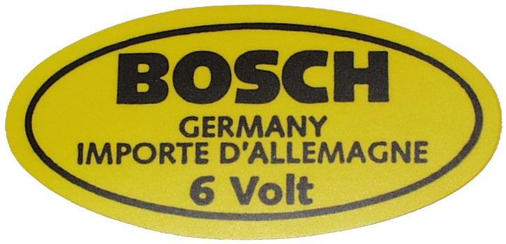 Samolepka/Bosch 6V - Typ 1/Porsche 356 (1947 »)