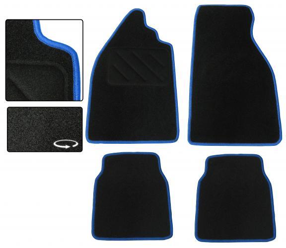 Koberce podlahy černé/modrý lem - Typ 1 (» 2003)