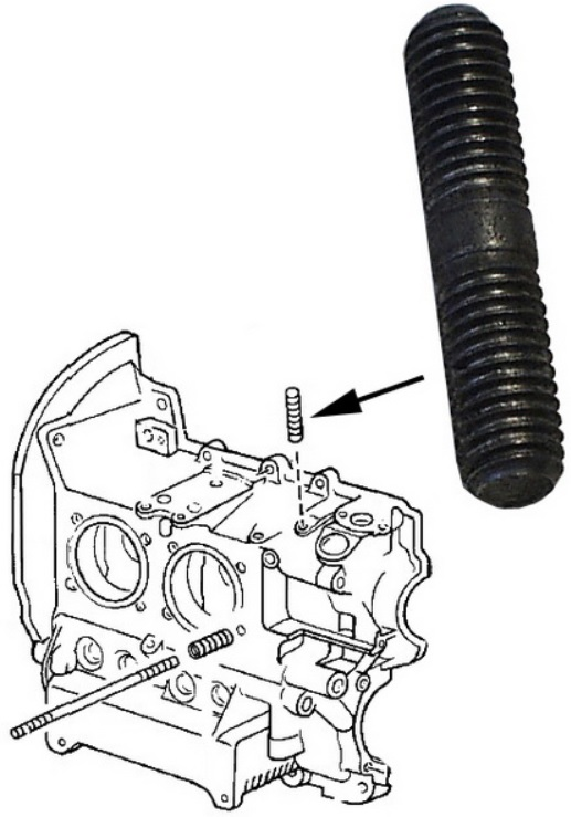 Svorník M8x38mm - Typ 1/CT/CZ/WBX motory (» 2003)