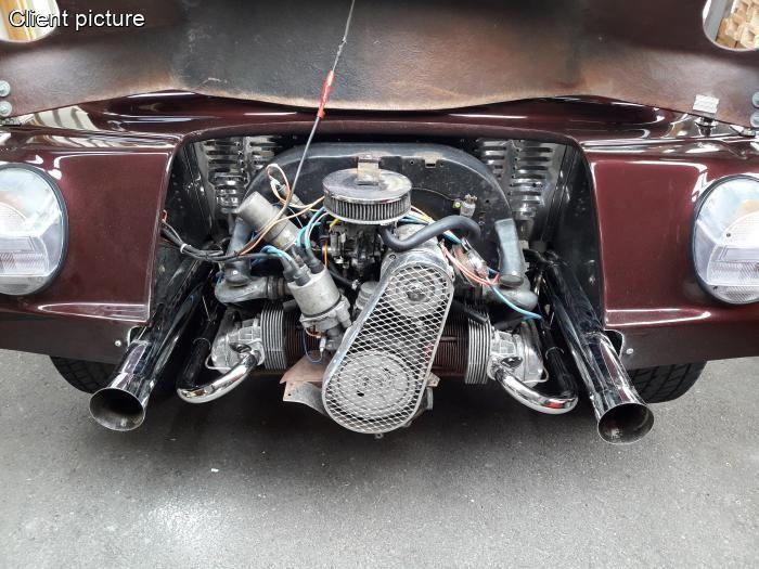 Výfuk se svody chrom/race systém - T.1 Buggy/Baja/Trike (1.2-1.6)