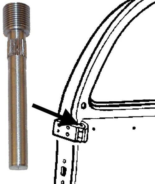 Čep pantu dveří +0.5mm/horní - Typ 1 (» 1967)