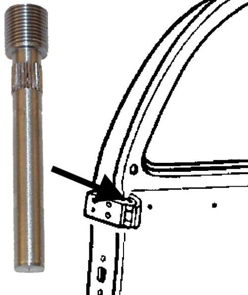 Čep pantu dveří +0.2mm/horní - Typ 1 (» 1967)