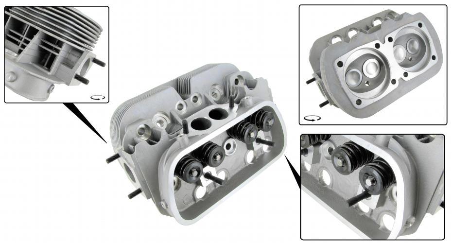 Hlava motoru GTV-2/dual S/S - Typ 1/3/CT/CZ motory (40x35.5x85.5mm)