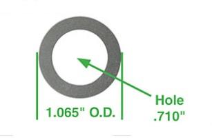 Podložky hřídele vahadla/0.381mm - Typ 1/3/CT/CZ/WBX motory (1960 »)