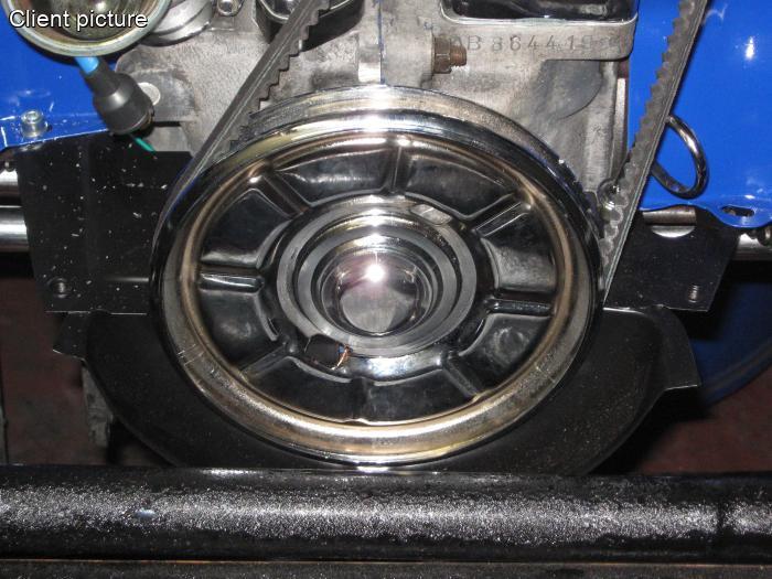 Řemenice klikové hřídele/chrom - Typ 1 motor (1960 »)