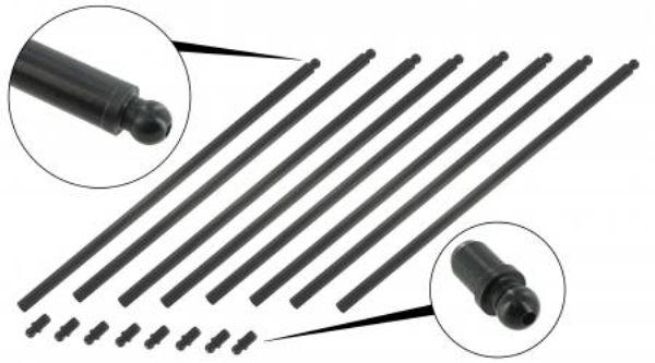 Tyčky zdvihátek ventilů 288mm/chromoly - Typ 1/3/IV/CT/CZ/WBX motory (1960 »)
