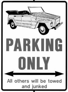 Cedule parkovací plast/modrá (VW Kübelwagen)