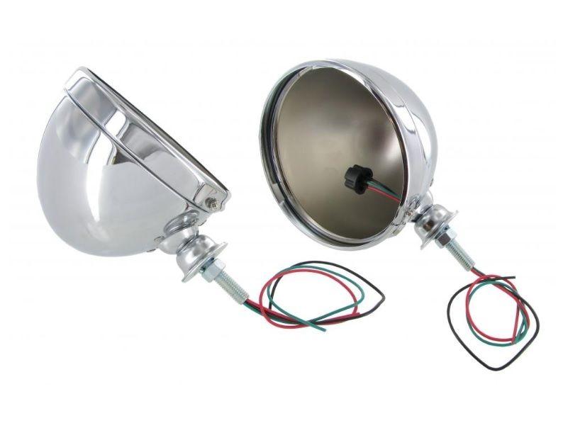 Hrnce světlometů/chrom - T.1+Buggy (univerzál)