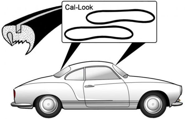 Těsnění skla plné Call-look/přední+zadní - Typ 14 (1955 » 74)
