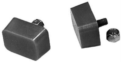 Dorazy nárazníku 22x47x35mm U/červený uretan - Typ 1/Buggy (univerzál)