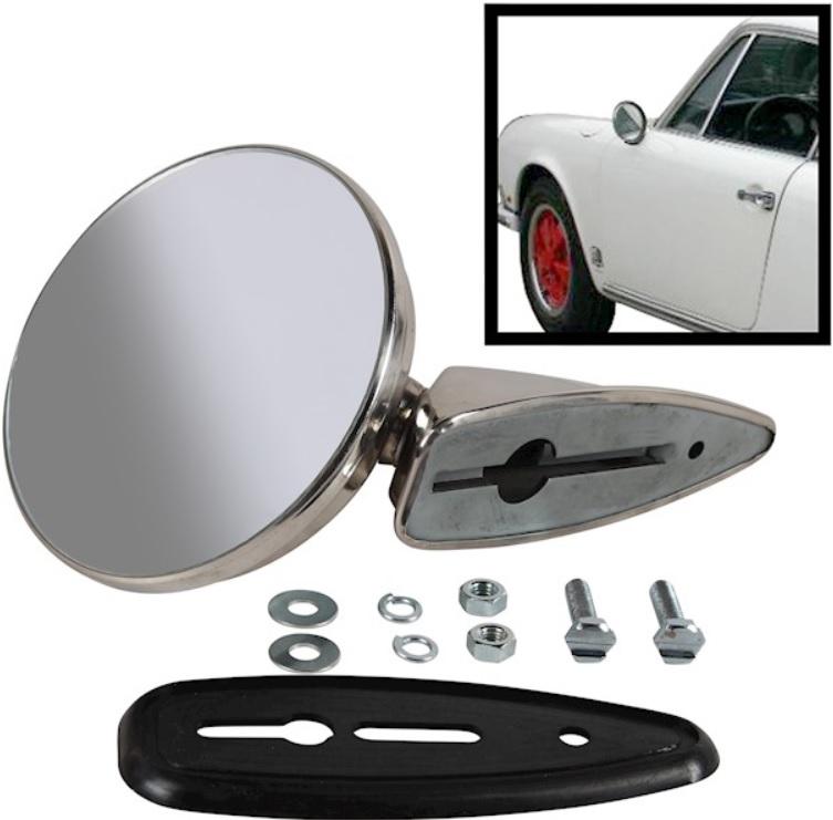 Zrcátko zpětné vnější/chrom L/P - Porsche 356/911/912 (1963 » 67)