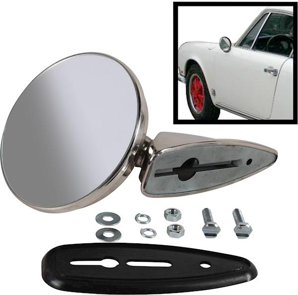 Zrcátko zpětné vnější/chrom L/P - Porsche 911 (1967 » 71)