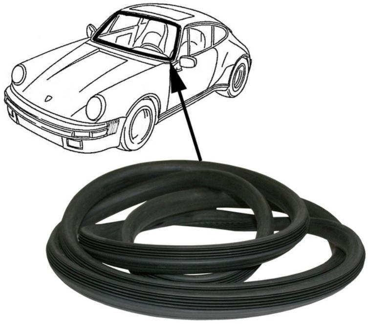 Těsnění skla/čelní - Porsche 911/964 (1988 » 93)
