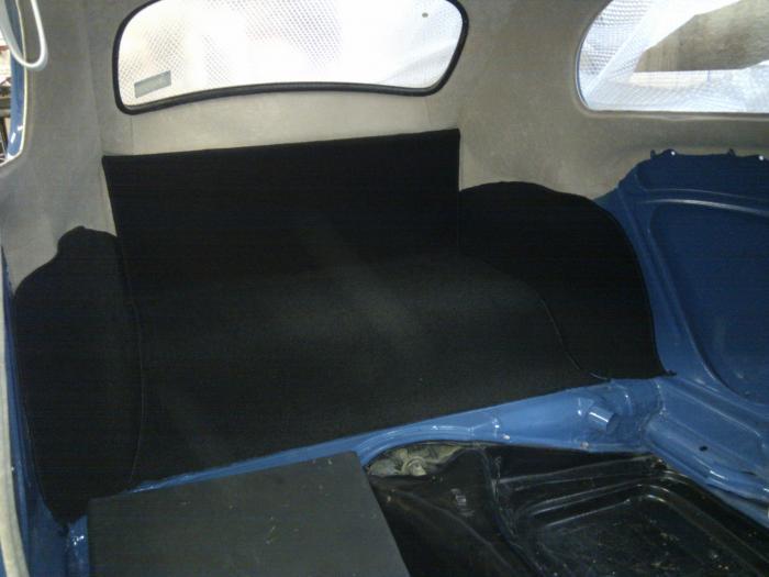 Koberce zavazadlového prostoru zadní/černé - Typ 1 (1957 » 64)