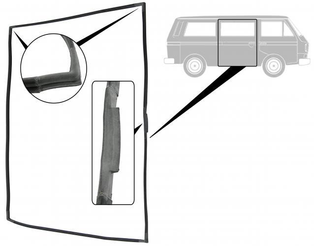Těsnění posuvných dveří/P - Typ 25 (1979 » 92)