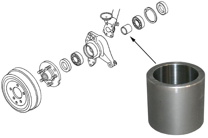 Kroužek poloosy vymezovací/zadní - Typ 2/25 (1970 » 92)