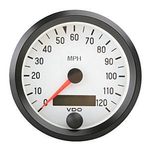Přístroj bílý/tachometr/120MPH (Ø 86mm)