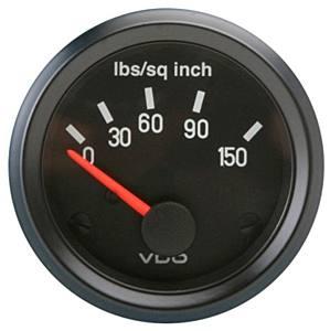 Přístroj černý/tlak oleje/150 PSI (Ø 52mm)