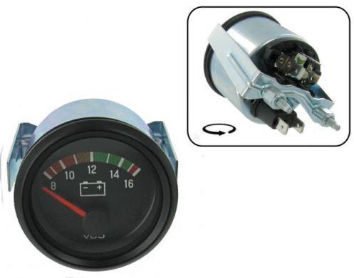 Přístroj černý/voltmetr 8-16V (Ø 52mm)