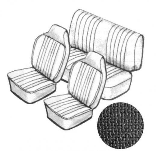 Potahy sedadel TMI/černý vinyl/kit - Typ 1 (1967 » 69)