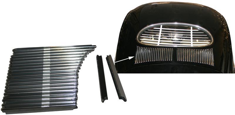 Mřížky pod zadní sklo/Alu set - Typ 1 (» 1957)
