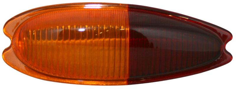 Sklo světla/zadní L - Porsche 356 (1957 » 65)